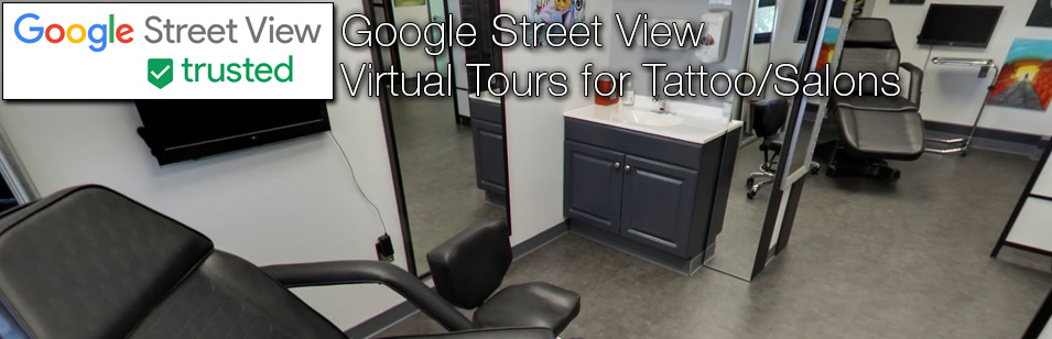 Google street view virtual tours for tattoo and salons for 360 degrees salon