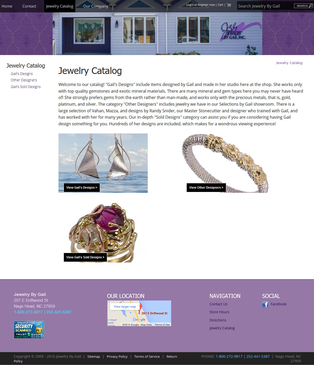 An Example Of Html Site Map: Jewelry Website Design Template Example C