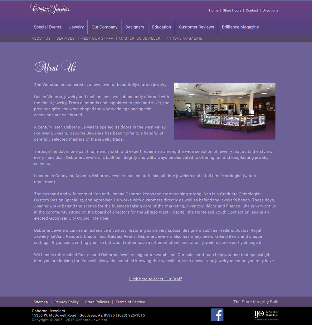 sample about us page template