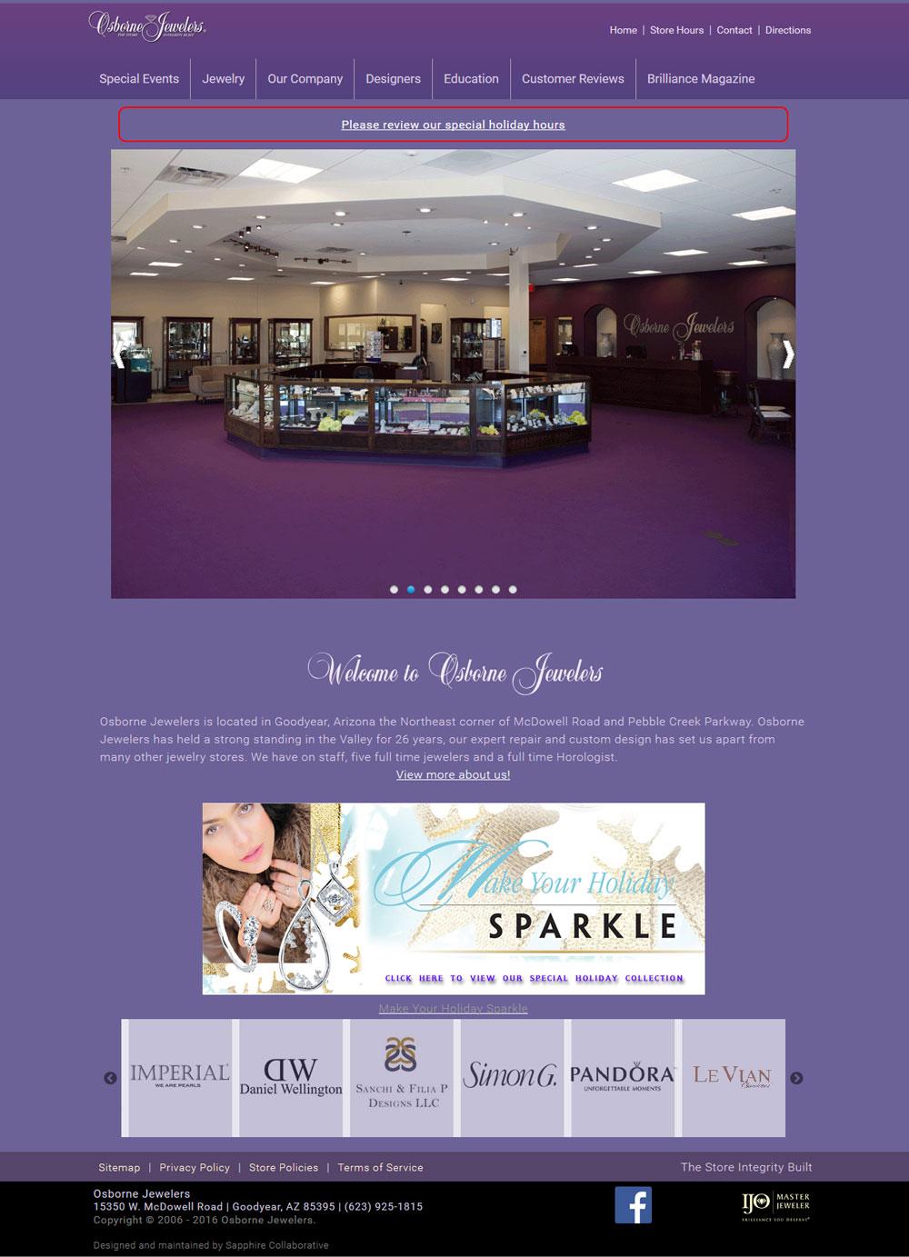 Jewelry Website Design Template Example 5