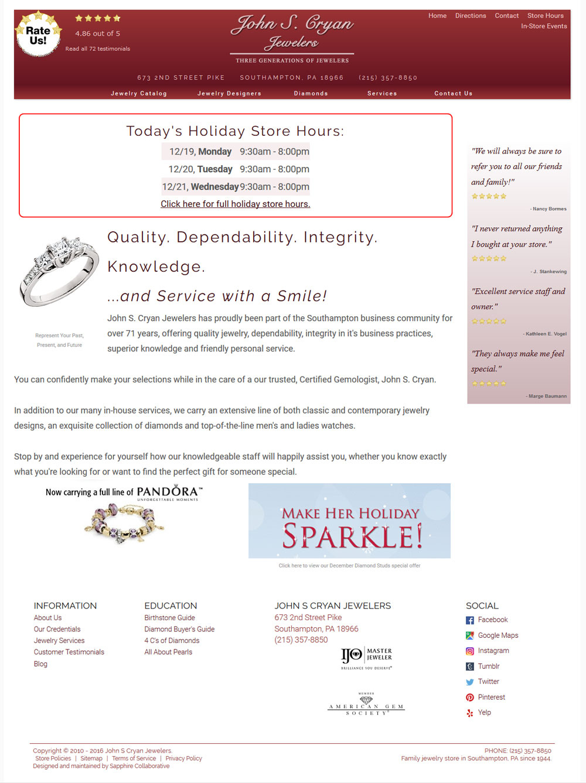 Jewelry Website Design Template Example 6