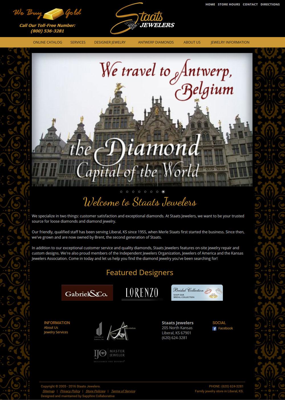 jewelry website design template example g